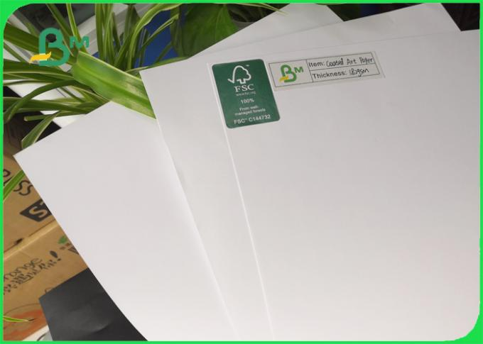 C2S Coated Paper 115 128 grams Glossy / Matt Art Paper 640 * 900mm Ream Package