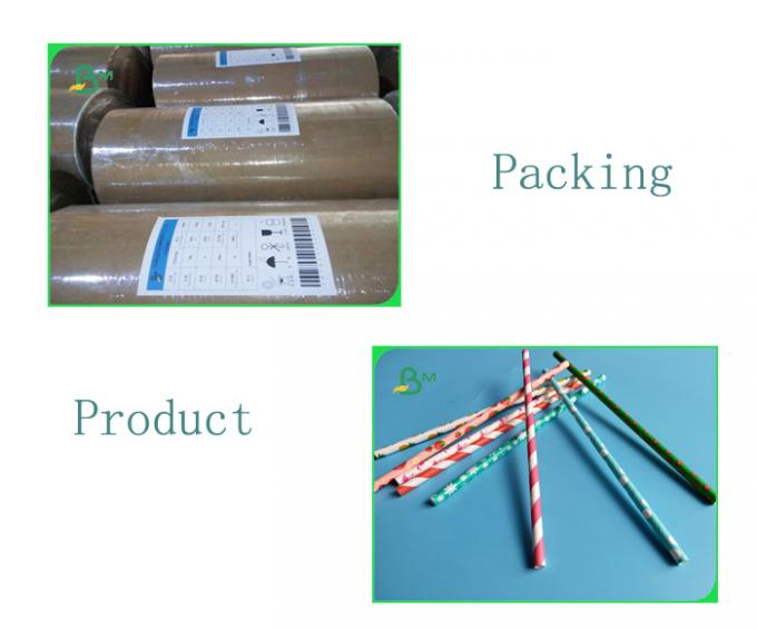 Customized 24g To 135g Printing And Environmental Straw Paper For Drinking