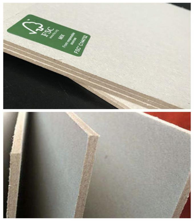 Grade AAA FSC Certified Grey Paper Board 1mm 2mm 3mm For Packing Boxes