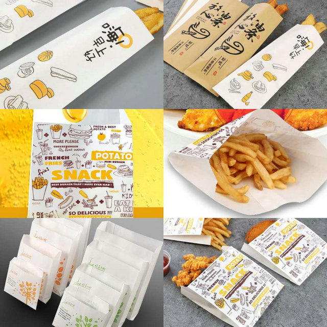 120GSM Food Grade Kraft White Paper With Customized Size To Wrap The French Fries