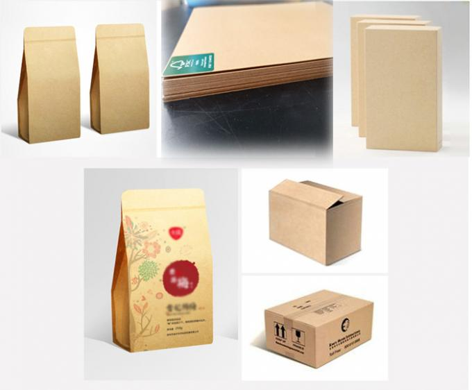 250gsm - 400gsm Good toughness FSC natural brown kraft liner paper for packing